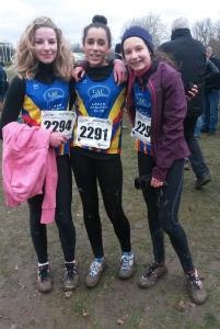 Claire, Elisa et Aurore, après leurs belles prestations lors des régionaux à La Tour de Salvagny