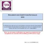 Rglements des CompŽtitions 2013