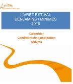 Microsoft Word - LARA livret estival Benjamins Minimes 2016 vali