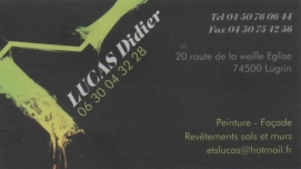 Carte de visite Didier LUCAS