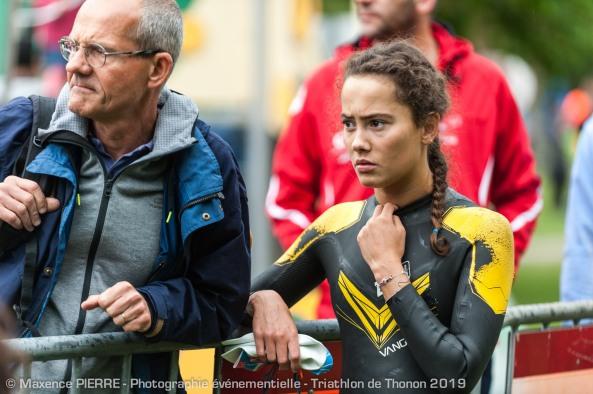 edmée LACHAT au triathlon de thonon