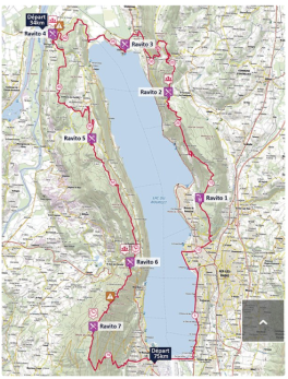 carte grand trail du lac