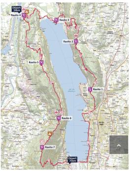 carte grand trail du lac