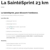 programme 23 km saintélyon