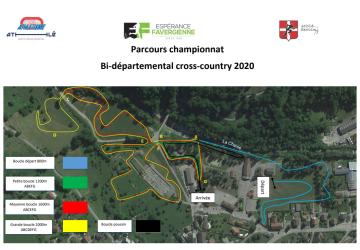 parcours bi départementaux 2020 de cross